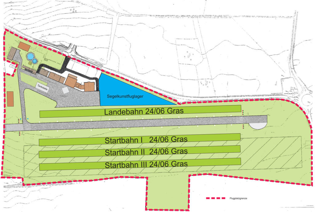 Lageplan Segelkunstflug-DM 2016 Gera-Leumnitz